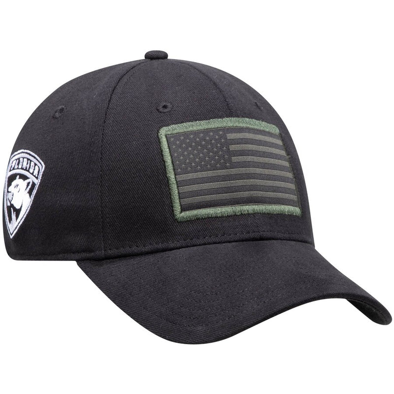 Florida Panthers adidas American Flag FlexFit Hat - Black