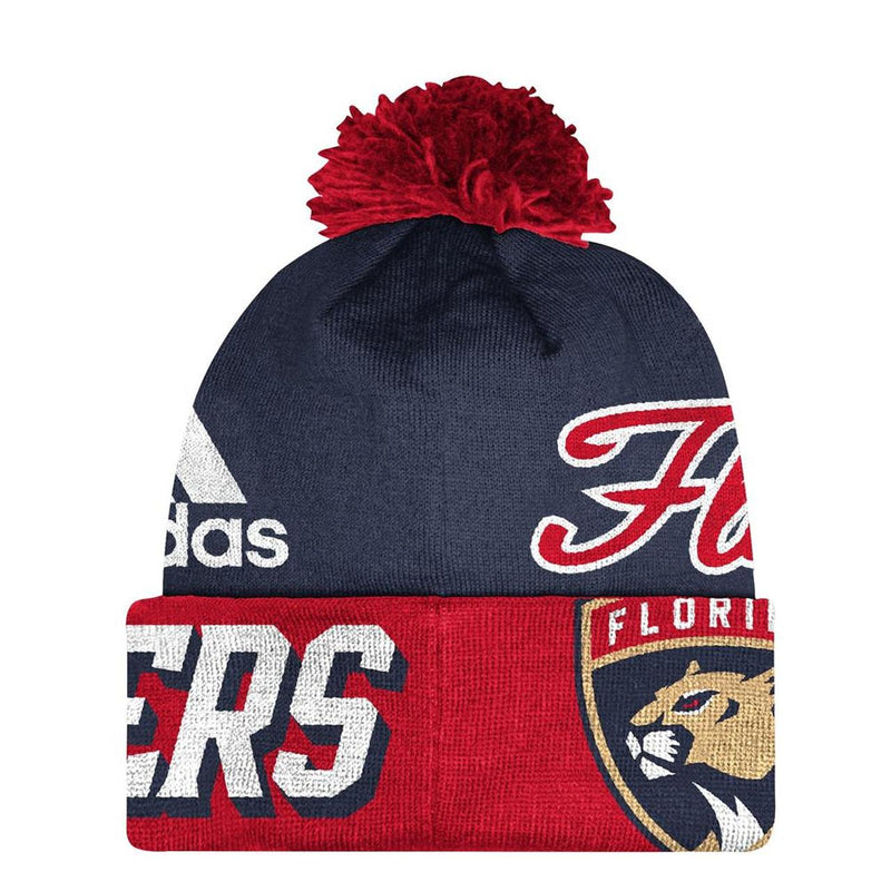 Florida Panthers Cuffed Pom Knit Beanie