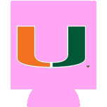 Miami Hurricanes Can Hugger - Pink - CanesWear at Miami FanWear Tailgate Gear JayMac Sports CanesWear at Miami FanWear
