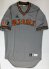 Miami Hurricanes adidas Throwback Baseball Jersey -  Gray