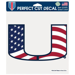 Miami Hurricanes USA Perfect Cut Decal 8 x 8 - CanesWear at Miami FanWear Decals & Stickers Wincraft CanesWear at Miami FanWear