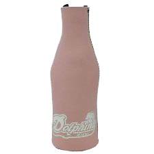 Miami Dolphins Vintage Bottle Holder Coozie - Pink - CanesWear at Miami FanWear Tailgate Gear St Louis Wholesale CanesWear at Miami FanWear