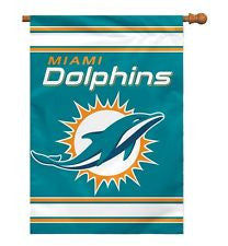 "Miami Dolphins House Flag 28""x40"" - CanesWear at Miami FanWear Flags BSI CanesWear at Miami FanWear"