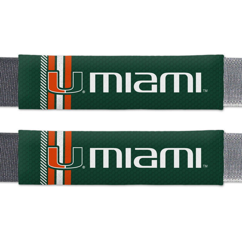 Miami Hurricanes Seatbelt Pads - Rally Design