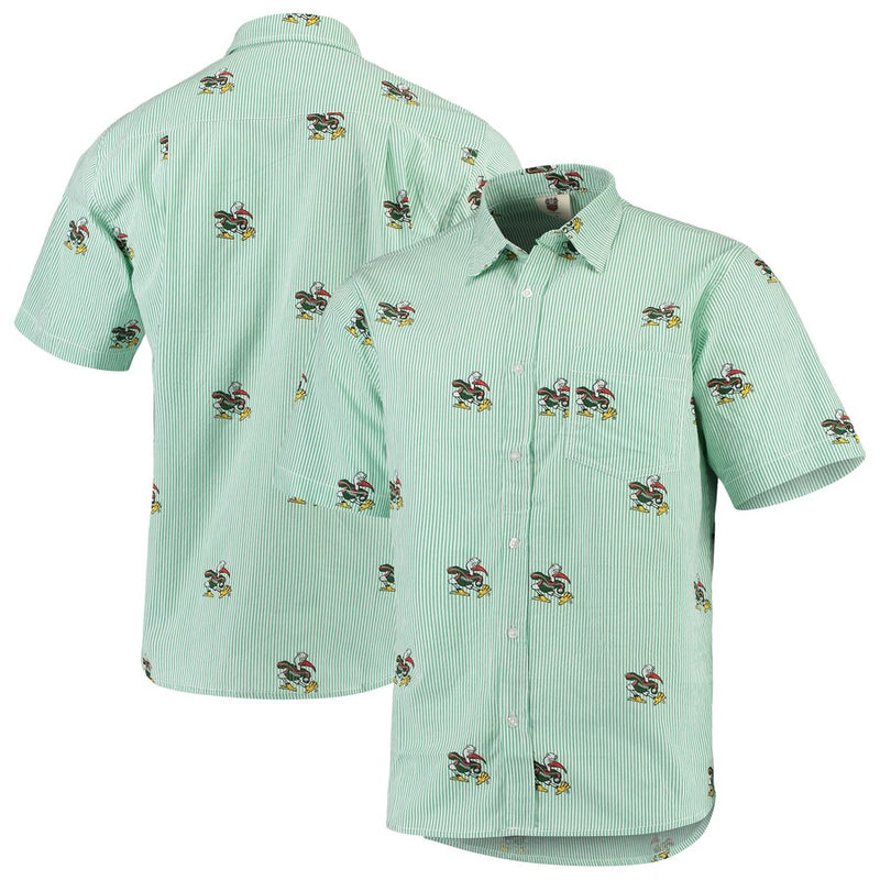 Miami Hurricanes Seersucker Button Up Shirt