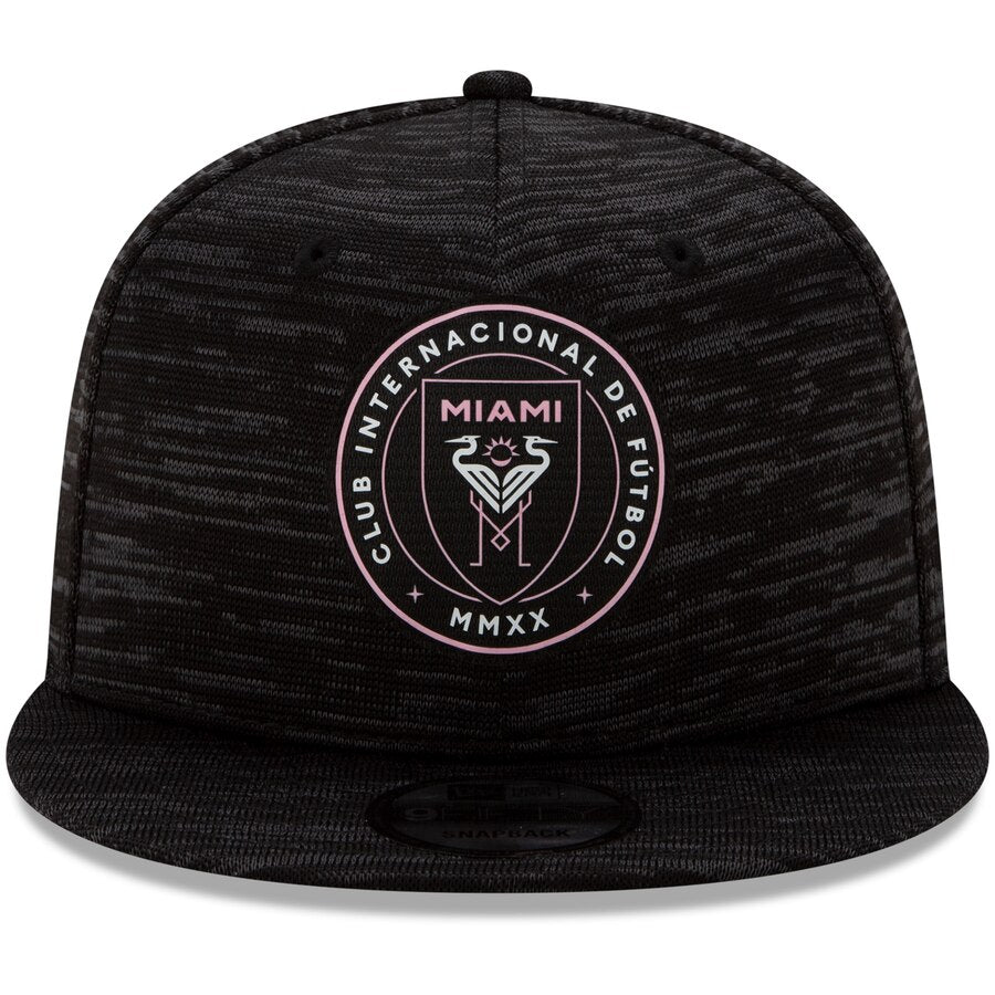 Inter Miami CF New Era 9Fifty Black On-Field Collection Snapback Hat