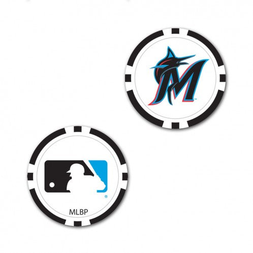 Miami Marlins Ball Marker Poker Chip