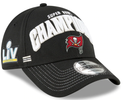 Tampa Bay Buccaneers New Era Super Bowl LV Champions Locker Room 9FORTY Snapback Adjustable Hat - Black