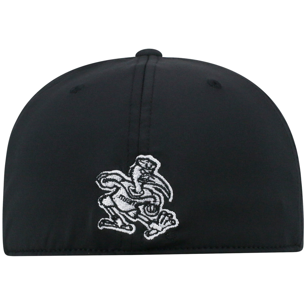 8131ccd2 Miami Hurricanes Black Out FlexFit Hat- Top of the World