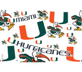 Miami Hurricanes 24 OZ Tervis Tumbler with Lid -   All Over Design