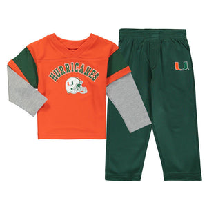 Miami Hurricanes Youth Charger Pant Set - CanesWear at Miami FanWear Youth Apparel Outer Stuff CanesWear at Miami FanWear