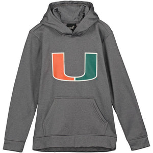Miami Hurricanes Youth Basic Pullover Hoodie - CanesWear at Miami FanWear Youth Apparel Outer Stuff CanesWear at Miami FanWear