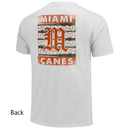 Miami Hurricanes Bats & Balls Old English M Tri-Blend T-Shirt - White