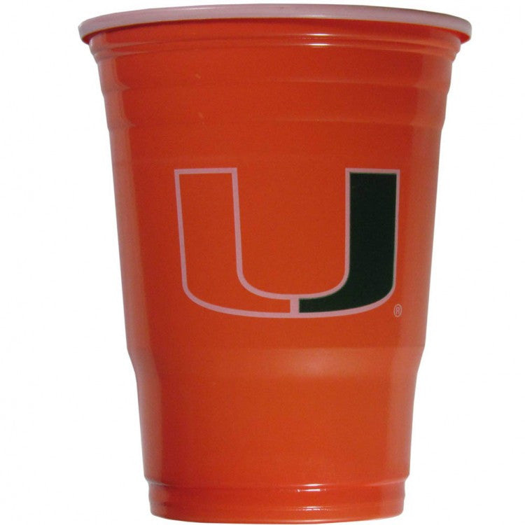 Miami Hurricanes 18oz Disposable Plastic Cups - 18 Count - CanesWear at Miami FanWear Drinkware CanesWear at Miami FanWear CanesWear at Miami FanWear