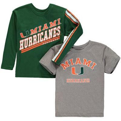 Miami Hurricanes Classic Fade 3 in 1 Shirt Set