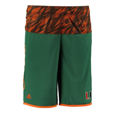 Miami Hurricanes adidas Golf 3 Stripe Climacool Polo - Gray