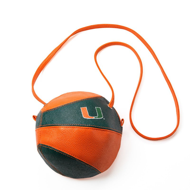 Miami Hurricanes Crossbody Basketball Purse - CanesWear at Miami FanWear general Miami FanWear CanesWear at Miami FanWear