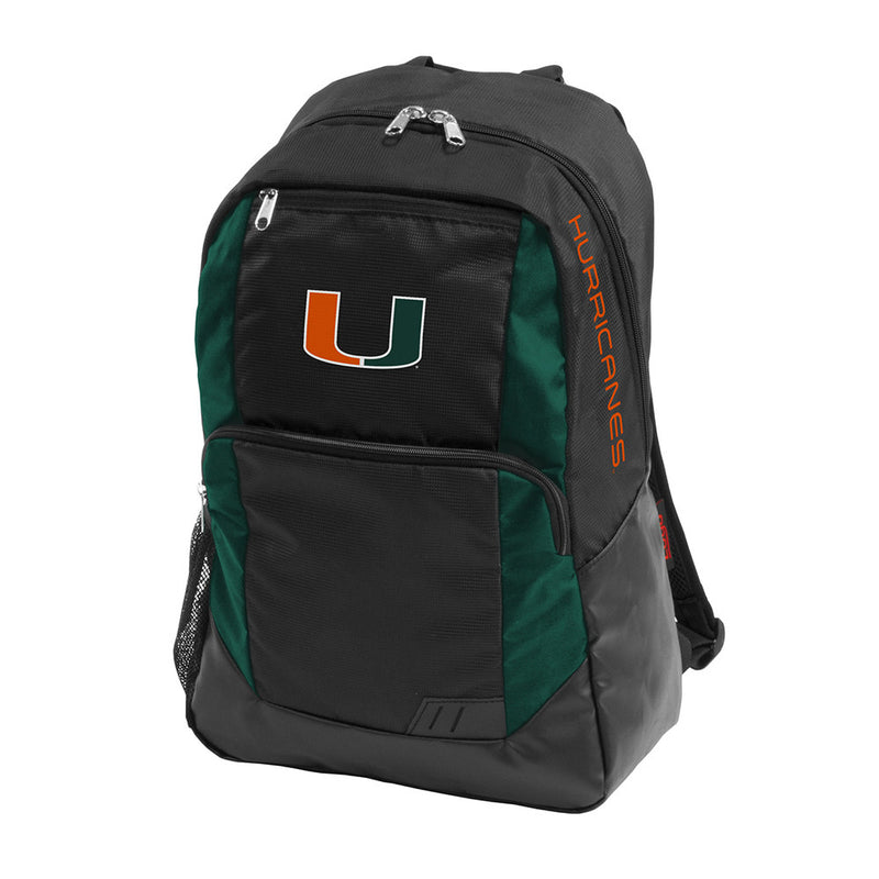Miami Hurricanes Closer Backpack - Black/Green