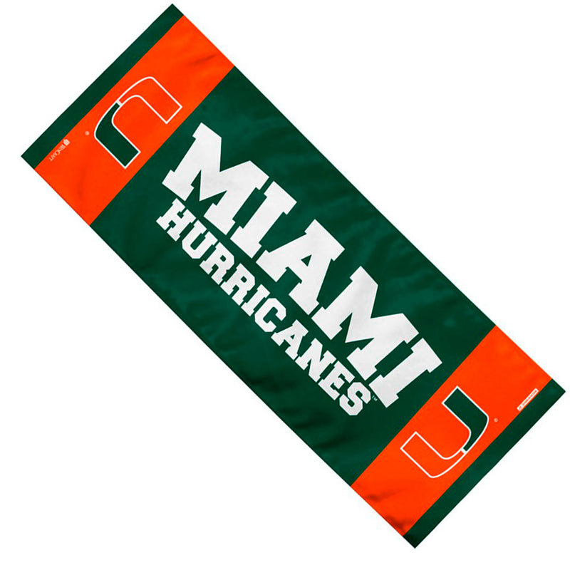 Miami Hurricanes EnduraCool Instant Cooling Towel - 12