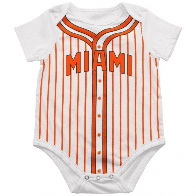 Miami Hurricanes Infant Fast Ball Onesie