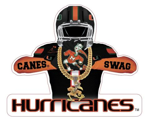 Miami Hurricanes Flippy Magz Player Turnover Chain Reversible Magnet