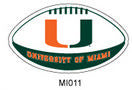 Miami Hurricanes Football Magnet