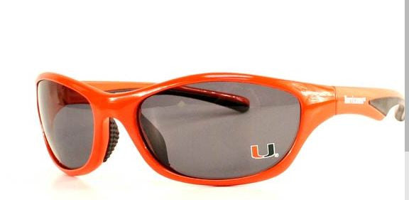 Miami Hurricanes Full Rim Sunglasses - Orange