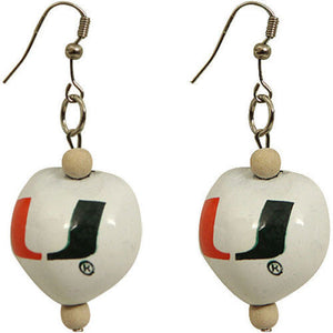 Miami Hurricanes Go Nuts Kukui Earrings