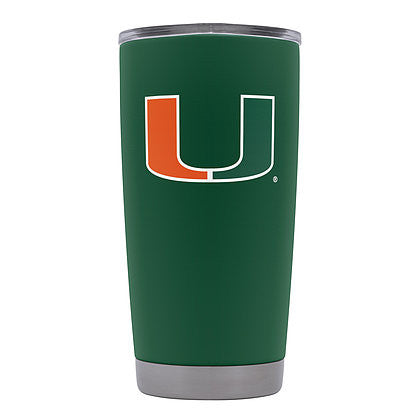 Miami Hurricanes GameTime SideKicks Powder Coated Green Tumbler - 20 oz