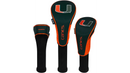 Miami Hurricanes Golf Headcover Set of 3 - Hybrid, Driver, Fairway