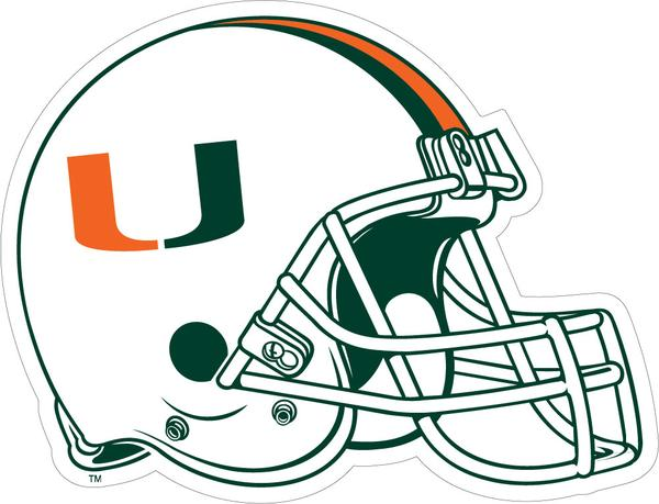 Miami Hurricanes Football Helmet Dizzler Decal