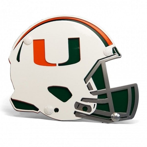 Miami Hurricanes Helmet 2 Inch Receiver Hitch Cover