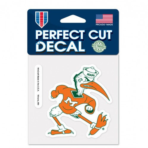 "Miami Hurricanes Ibis Perfect Cut Decal - 4"" - CanesWear at Miami FanWear Decals Wincraft CanesWear at Miami FanWear"