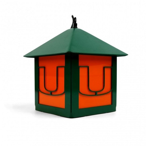 Miami Hurricanes Metal Miami U Lantern - 6""