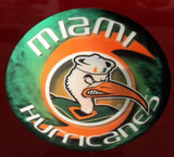 Miami Hurricanes Ibis Round 3D Motion Magnet - CanesWear at Miami FanWear Accessories WorldTrader CanesWear at Miami FanWear