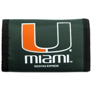 Miami Hurricanes Nylon Velcro Wallet