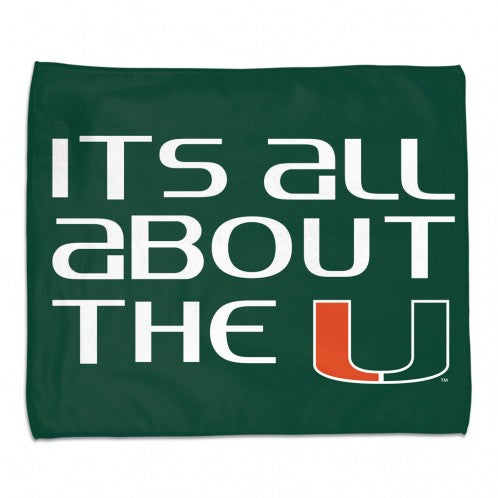 "Miami Hurricanes It's All Bout The U Rally Towel - 15""x18"""