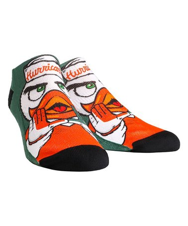 Miami Hurricanes Rock'em Sebastian Mascot Low Cut Socks