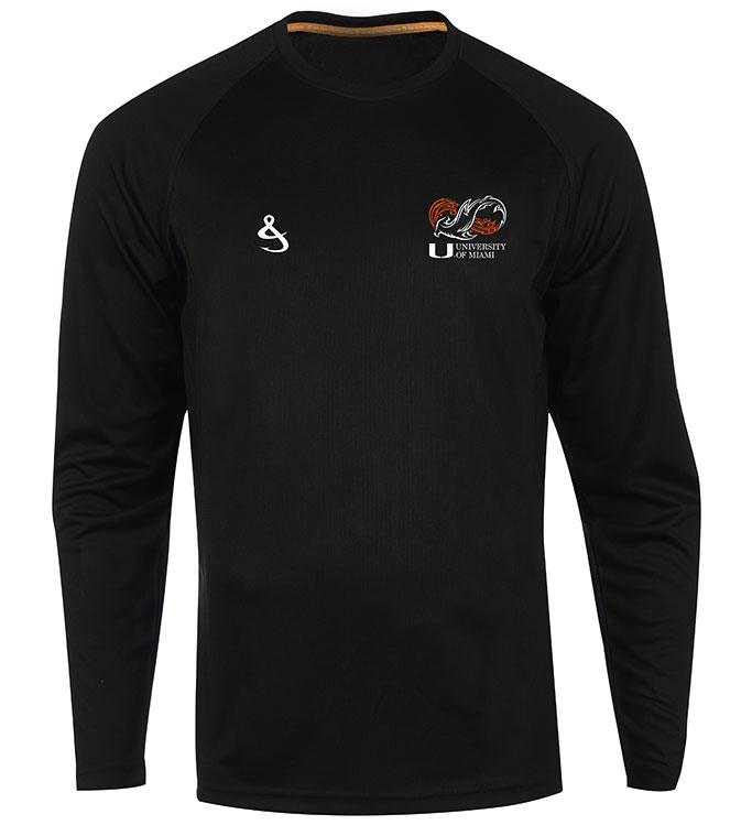 Miami Hurricanes Shark Research Seamount L/S Fishing Shirt - Black