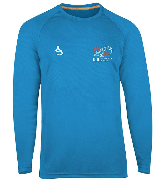 Miami Hurricanes Shark Research Seamount L/S Fishing Shirt - Maliblue