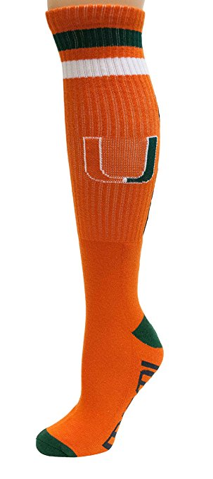 Miami Hurricanes Tube Socks - Orange