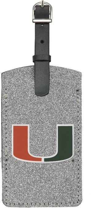 Miami Hurricanes Sparkle Luggage Bag Tag