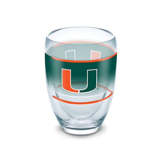 Miami Hurricanes Tervis Stemless Wine Glass