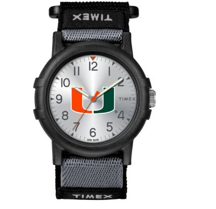 Miami Hurricanes Timex Tribute Collections U Logo Recruit Watch