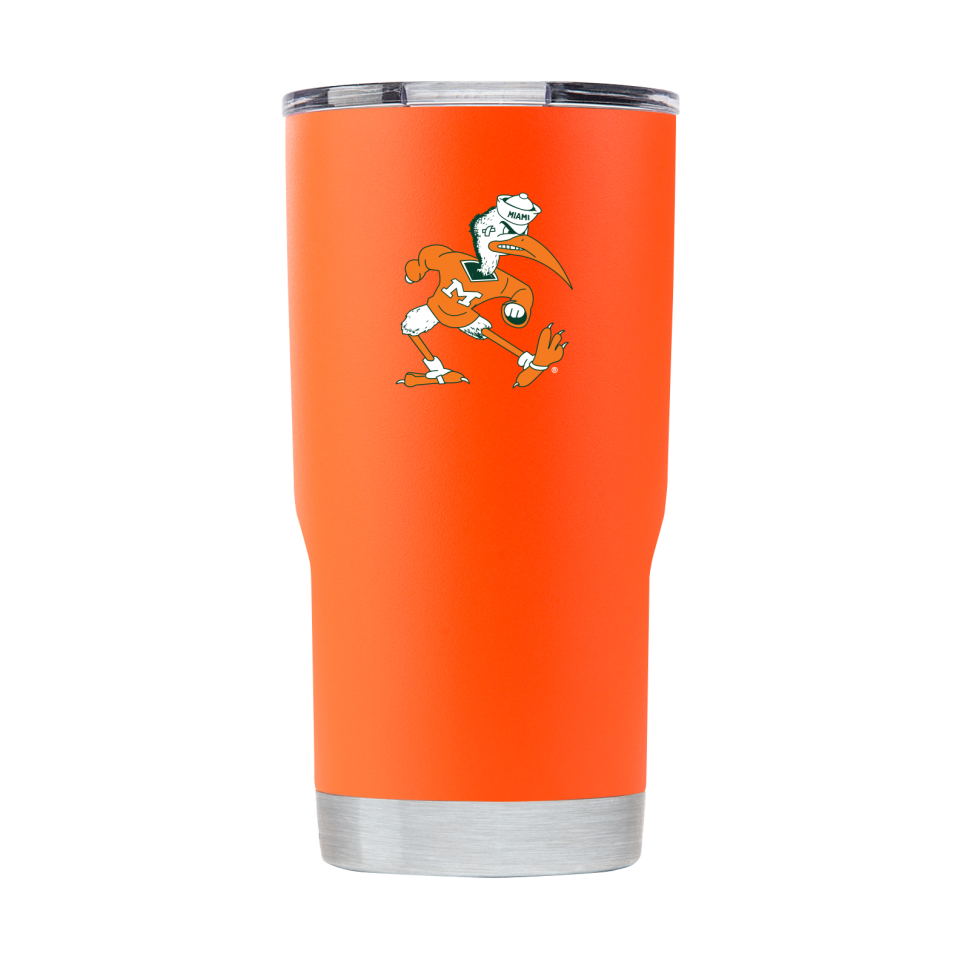 Miami Hurricanes Miami Vault Cane 20 oz Tumbler - Orange