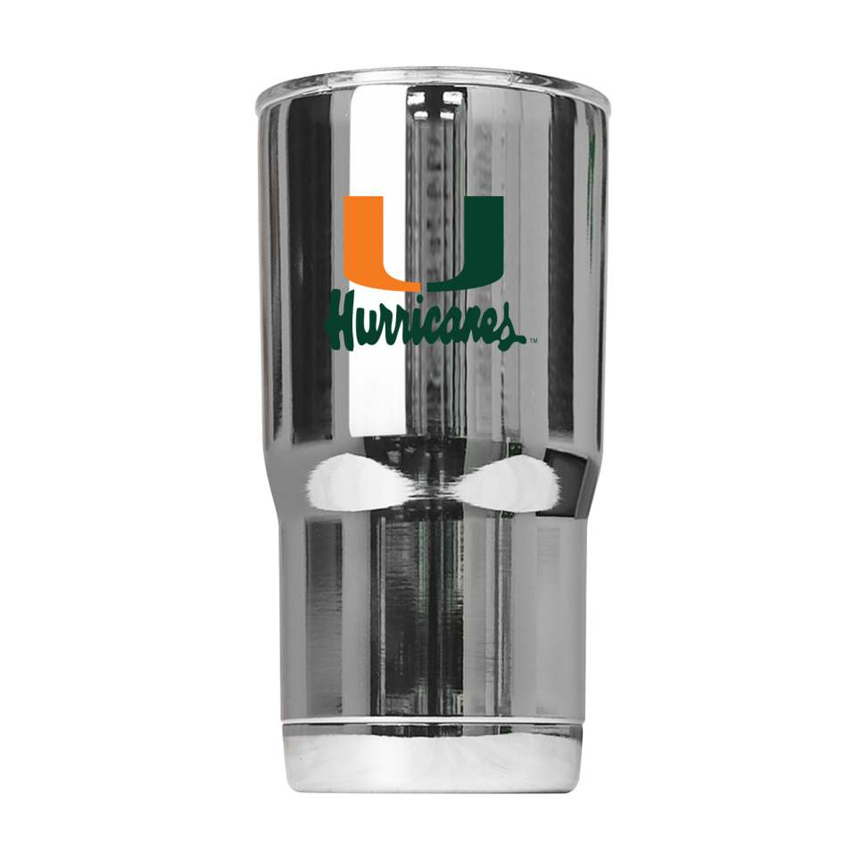 "Miami Hurricanes Miami Vault ""U"" 20 oz Tumbler - Chrome"