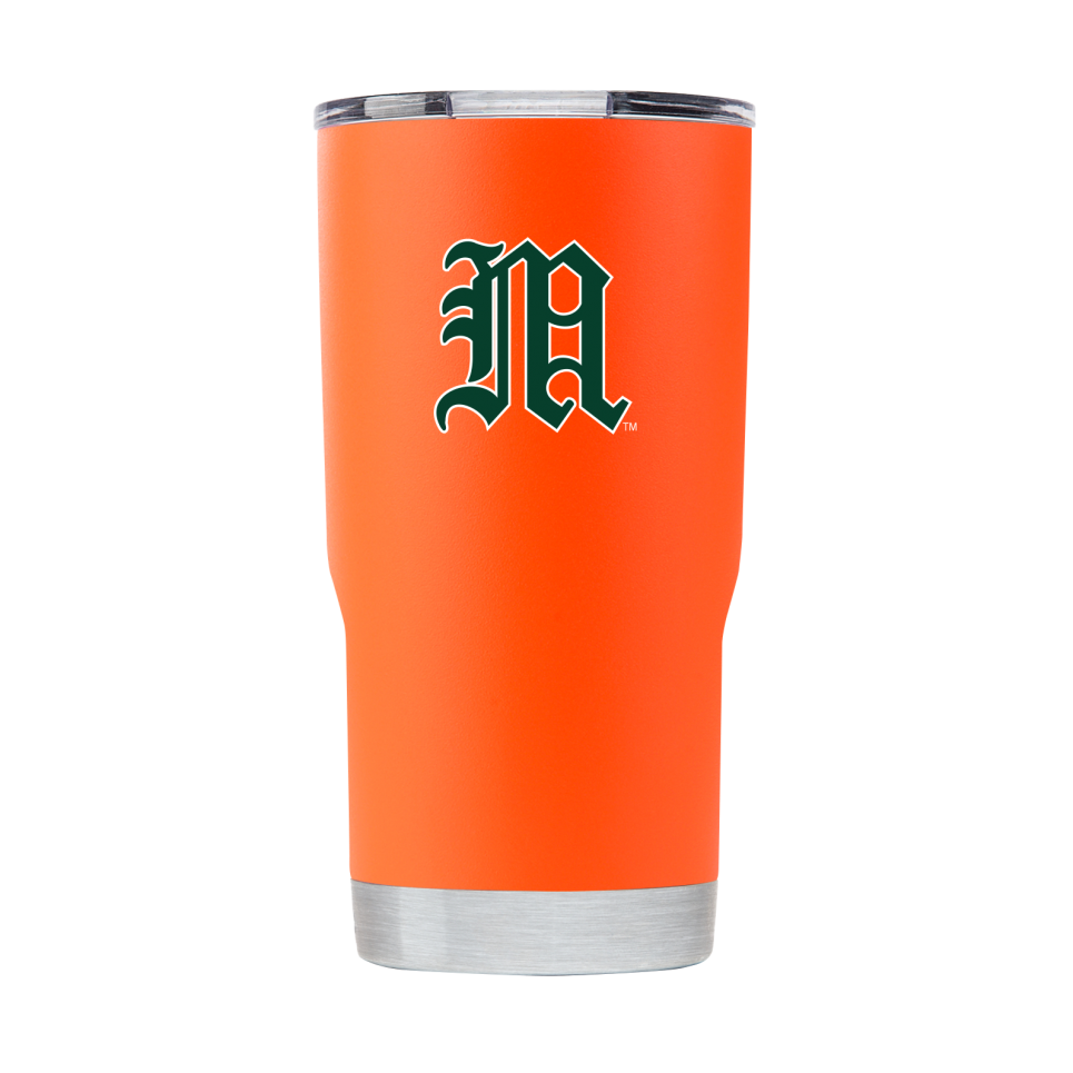 "Miami Hurricanes Miami Vault ""M"" 20 oz Tumbler - Orange"