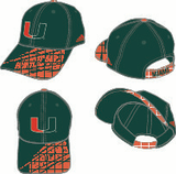 Miami Hurricanes Adidas Structured ADJ Hat - Two-tone - CanesWear at Miami FanWear Headwear Adidas CanesWear at Miami FanWear