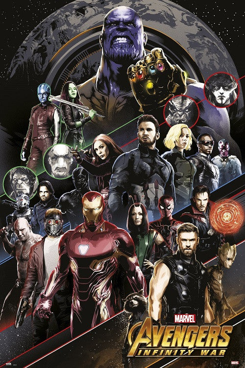 Infinity War Avengers - All Characters