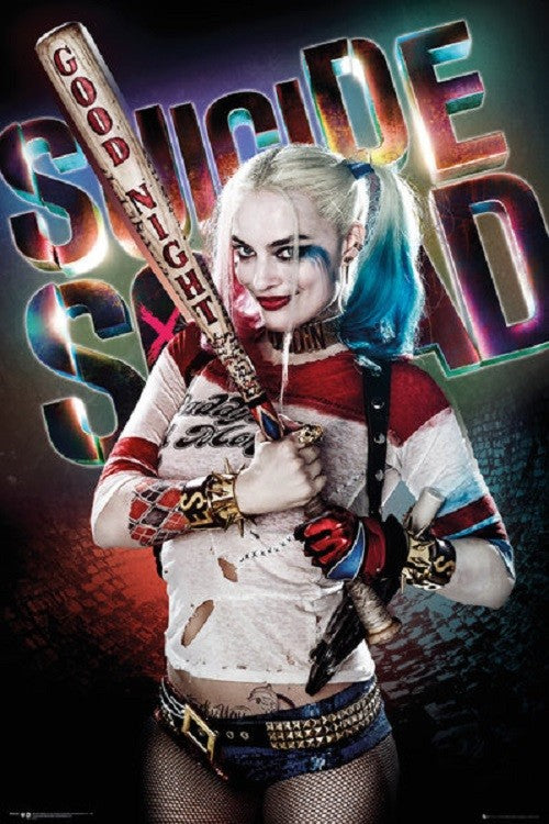Suicide Squad - Harley Quinn Goodnight 24x36 Movie Poster